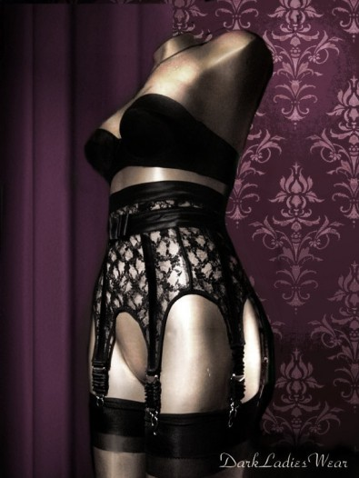 dark ladies wear the address for top class sinful garter